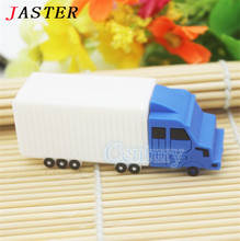 Free shipping car style usb flash drive mini truck pendrives 8gb 32gb freight train memory stick 4gb 16gb toy gifts creativo usb