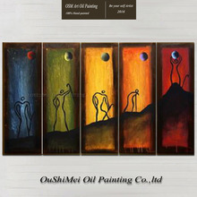 Painter Team Directly Supply High Quality Abstract Oil Painting On Canvas Abstract People Climb the Hill Oil Painting Decoration