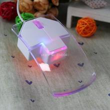 New Transparent Optical 1200 DPI USB Wired Gaming Game Mouse For Games PC Laptop LED Night light Mouse 7 color