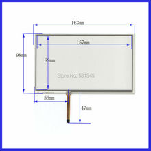 7inch 4-wire resistive Touch Panel   163*98compatible Navigator TOUCH SCREEN  163mm*98mm GLASS on  LCD display and GPS