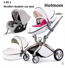 Luxury Baby Stroller Fashion Pram European Carriage Suit for infant to age 3(China)