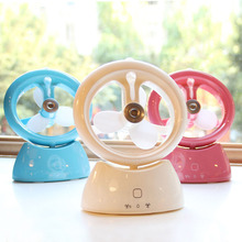 Mini Air Conditioner Fan, USB Spraying Fan, Usb Charging Fan, Office Student Desktop Water Spray Humidifier(China)