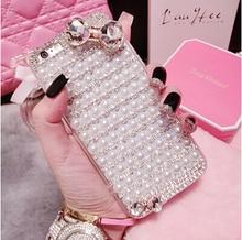 Pearl Bowknot Shockproof Phone Cover LG G4 BEAT G4S LEON C40 Nexus 5 Nexus 5X G2 Rhinestone Diamonds Gem Phone Case