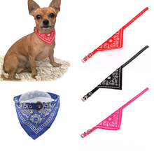 Adjustable Pet Dog Scarf Collar for Small Large Dog Bandana Decoration Neckerchief Bow PU Dog Tie Accessories Collar Perro 40