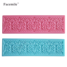 Flower Pattern Cake Decoration Textured Mold Mat Fondant Silicone Lace Mold Cupcake Cookie Molding Tool Kitchen DIY 04093(China)