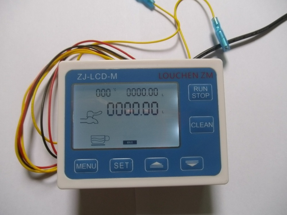 LCD Water Liquid Flow Sensor Digital Display Flowmeter Quantitative Controller<br>