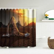 Digital Print Waterproof Mildewproof Shower Curtain Size 180*180 CM 12 Hooks Bathroom 65 - Mosunx Business store