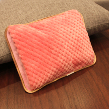 Nice Color Double Inserted Charging Electric Hot Water Bag Bottle Heater Hand Warmer Square Cotton Heating Pads