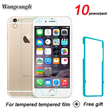 10 pcs/Lot cell phone screen protector Tempered Glass on the For iPhone 6 Tempered Protective Glass For iphone 6s wangcangli