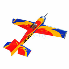 "Electric plane Extra-330 57"" 4 Channels Oracover Film Large Scale RC Balsa Wood Model Airplane"
