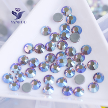 YANRUO #2058HF All Sizes Lt.Amethyst AB Loose Beads Strass Hot Fix Rhinestone Flat Back Hotfix Crystals Stone(China)