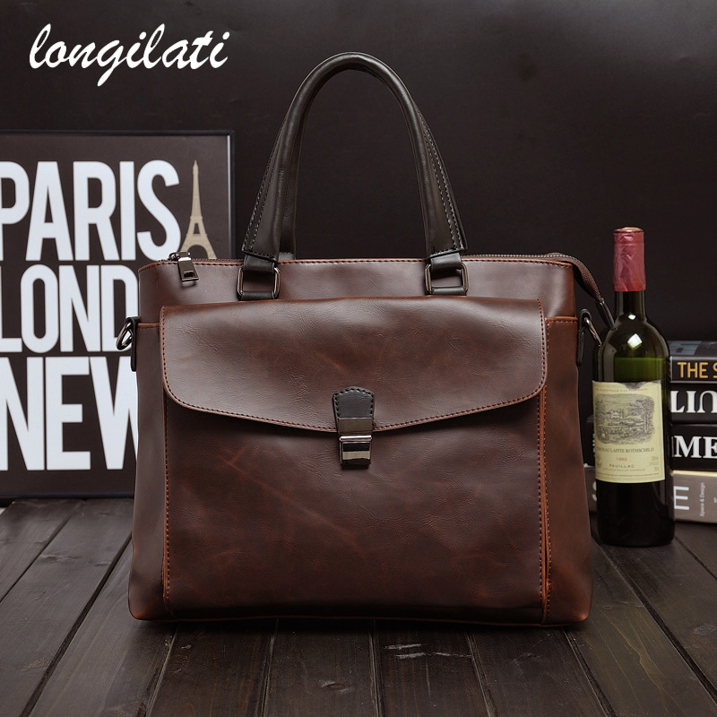 Yoursoulbir 2018 Men Casual Briefcase Business Shoulder Bag Leather Messenger Bags Computer Laptop Handbag Bag Mens Travel Bags<br>