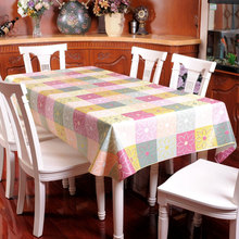 Pastoral Style Home Oilproof Table Cloth Plastic Table Cloth Tablecloths for Weddings Waterproof Durable Tablecloth Table Linen