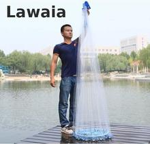 Lawaia 2.4-7.2m Fly Fishing Net Fhishing Network Crab Cage Floats For Fishing Net Shrimp Aquarium Fishing Net China Network
