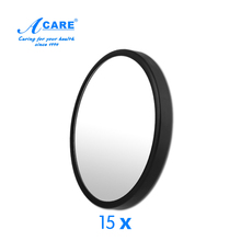 1Pc ACARE 15X Makeup Mirror Pimples Pores Magnifying Mirror With Two Suction Cups Makeup Tools Round Mirror Bathroom Mirror