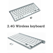 Ultra slim 2.4G Wireless Keyboard Russian Spanish Hebrew Keyboard For iPhone ipad,Macbook,Tablet,PC With Android ios Windows