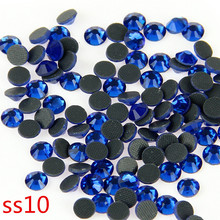 500 Gross SS10 Blue Crystal DMC Stone With Glue Strass Loose Rhinestones For Clothing Handmade Accessories
