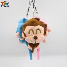 Wholesale 100pcs Cartoon Plushlong Tail Monkey Toy Stuffed Animal Toys Doll Key Chain Pendant Wedding Birthday Party Gift Triver