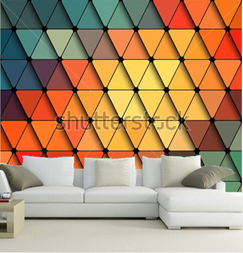 Custom 3D large  murals,vector Geometric pattern  Background papel de parede,living room sofa TV wall bedroom wall paper<br>