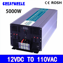 P800-121-C 800w UPS charge solar inverter 12vdc to 110vac off-grid Pure Sine Wave voltage converter LED Display(China)