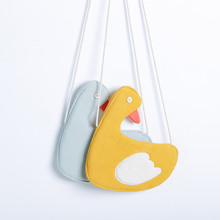 Monsisy 5PCS Girl Handbag Cartoon 3D Goose Baby Coin Purse Children Wallet Kid Messenger Bag Kawaii ddler Infant Crossbody Bag