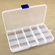 15 Grid Slots Adjustable Jewelry Storage Box Case Craft Organizer bags Beads Diamond Embroidery crystal Storage Box home garden