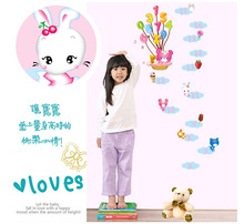 Cartoon cute teddy bear and balloons children room of household adornment wall stickers on the wall(China)