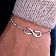 Europe And The United States Foreign Trade Jewelry Punk Alloy Bracelet 8 Characters Superb Infinity Symbol Polished Bracelet