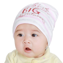 Soft Newborn Hats Cotton Letter Baby Beanies Spring Autumn Girls Boys Hat Striped Comfortable Baby Hats 2017 Baby Accessories(China)