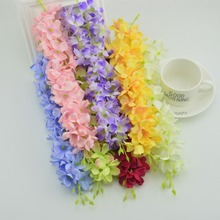1pcs 30 flowers artificial Flowers for home Garland Necklace Fancy Dress Fun Silk  Hydrangea DIY Party Beach wedding Decora