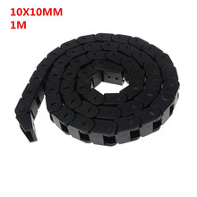 10 x 10mm L1000mm Cable Drag Chain Wire Carrier with End Connectors for CNC Router Machine Tools