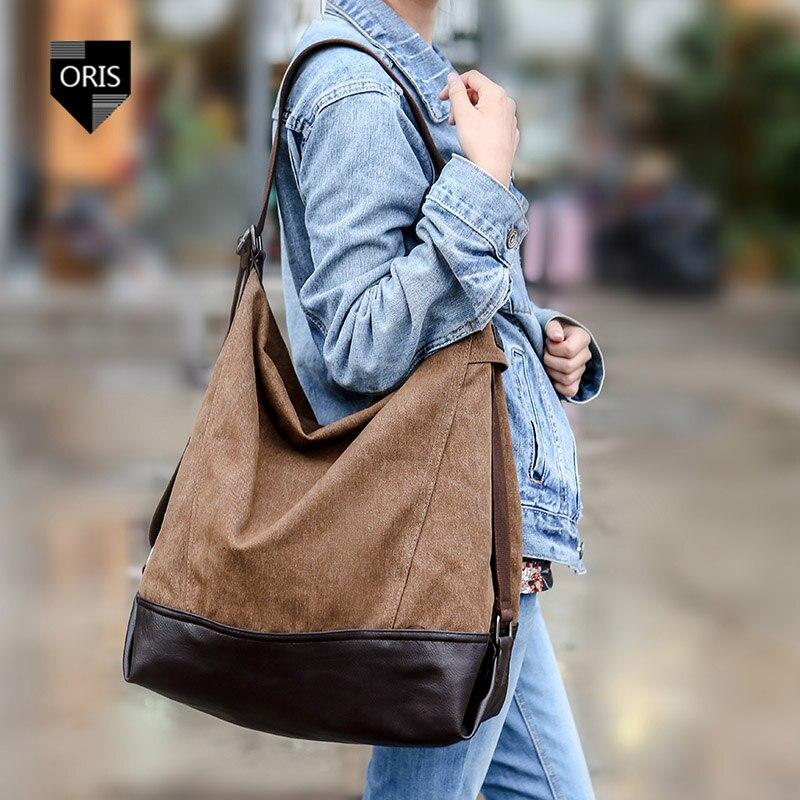 Designer Quality Canvas Womens Shoulder Bag Fashion Female Crossbody Bag Casual Tote Bucket Bag Hot Selling Patchwork Handbag<br><br>Aliexpress