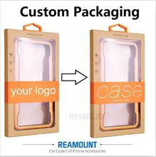 High Class Kraft Paper Box DIY Custom Company LOGO Packaging Box with Colorful Sticker & Hanger for iphone 7 7plus Case(China)