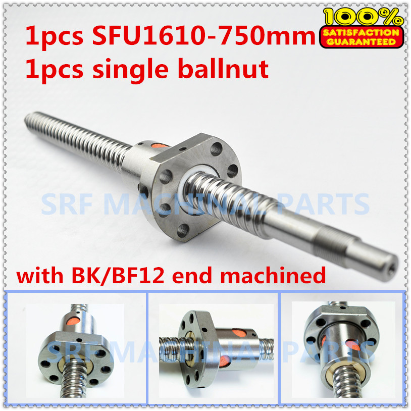 New RM2005 SFU2005 L-760mm Ballscrew End Machining with SFU2005 Ballnut