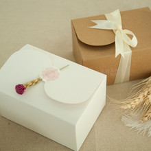 Natural Kraft Paper Cake Box,Party Gift Packing Box,Cookie/Candy/Nuts Box/DIY Packing Box/20pcs/lot,High Quality 150*105*85MM