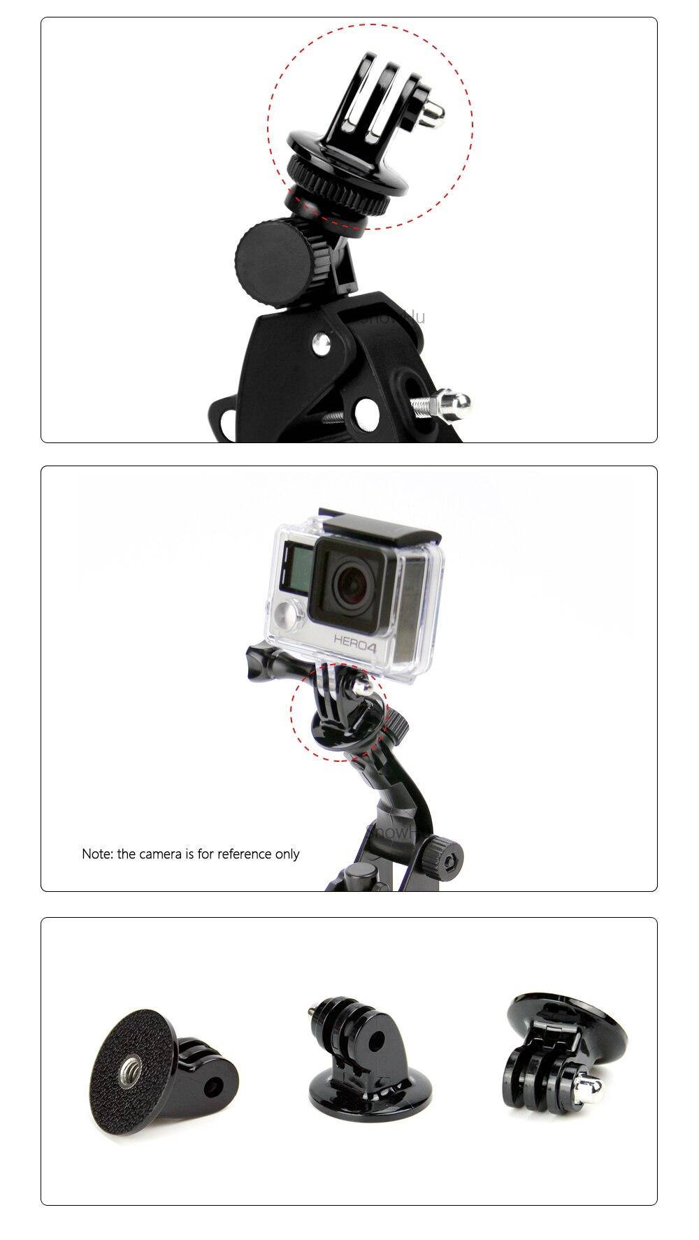 SnowHu for GoPro Accessories Mini  Monopod Tripod Holder Case Mount Adapter for Go Pro Hero 7 6 5 4 SJ4000 Xiaomi yi Camera TP03