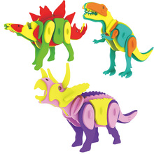 Dinosaur 3D EVA Puzzle DIY Simulation Model Children IQ Educational Toys 3D Jigsaw Kids Gifts