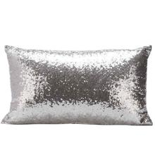New Qualified Cushion Cover Sequins Sofa Bed Home Decoration Festival Pillow Case Cushion Cover Levert Dropship dig6119(China)
