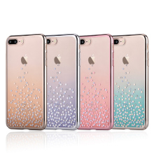 Original Comma Unique Polka 360 Degree Protection Swarovski Element Ultra Thin Lightweight Protective Case for iPhone 7/7 Plus