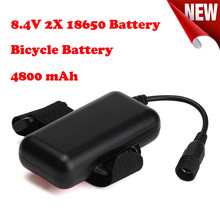 New 8.4V Rechargeable 4800mAh 2X18650 Battery Pack For Bicycle light Headlamp Flashlight Bicycle Light Accessories Hot Mar 22