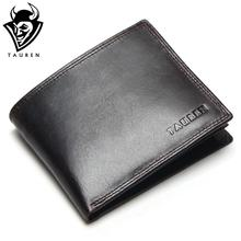 Small Vintage Wallet Brand High Quality Vintage Designer 100% Genuine Crazy Horse Cowhide Leather Men Short Coin Purse Wallet(China)