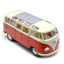 High simitation 1:24 VW Classical Minibus Alloy Diecast Model Car Toy Bus MiniVan As Gift For Children Collection Free Shipping(China)