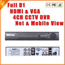 High Performance HDMI 4CH CCTV DVR Recorder Full D1 P2P Cloud Service Supporting Smart Mobile View