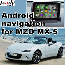 Android 4.4 5.1 GPS navigation box for Mazda MX-5 miata with cast screen youtube google play video interface(China)