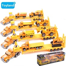 Metal Engineering car series Engineering transport vehicle/Dump truck/mixer Car/Big truck model toy children Gift Free shipping