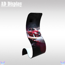 New Arrival Trade Show Tension Fabric Snake Banner Stand With Single Side Full Color Printing,Promotional Advertising Display