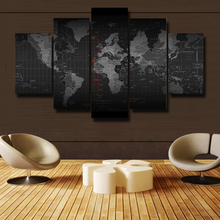 5PC Oil Painting Printing Framed Art Wall Modern Theme senior Map Canvas Print Living Room Decoration Free Shipping