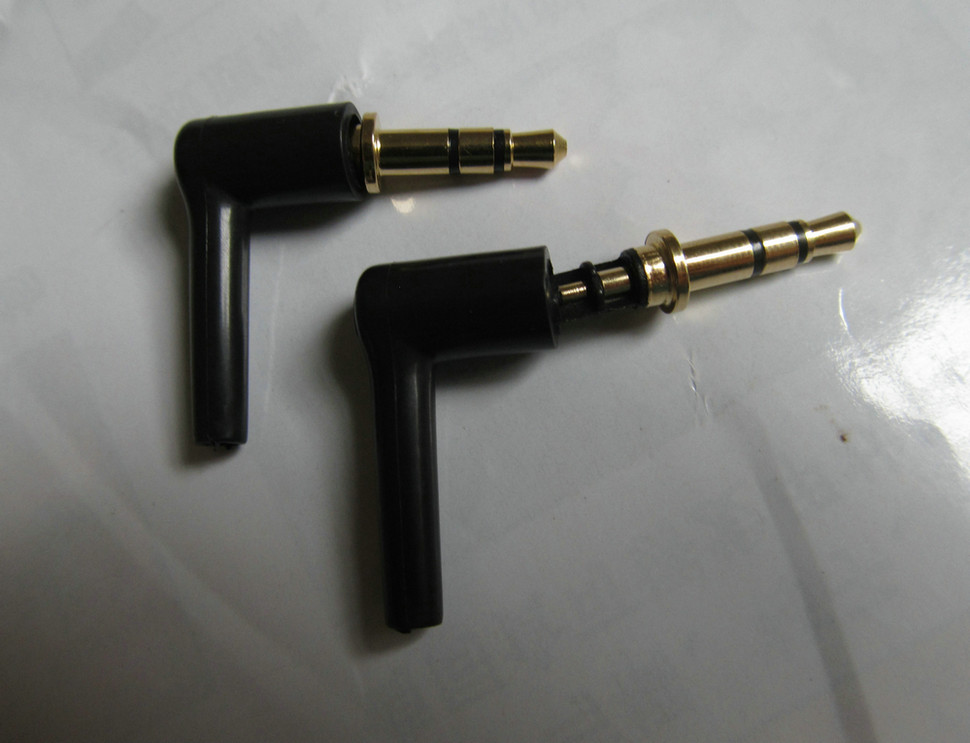 10 pcs black Gilded 3 Poles 3.5mm Male 90 right angle / L-shaped stereo headphone Plug Repair Earphones Jack Audio Soldering<br><br>Aliexpress