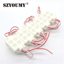 SZYOUMY LED Module Injection 5730 4leds ABS Plastic IP65 DC12V 3M Adhesive Back For Blister Luminous Words Logo Signs 1000 pcs(China)