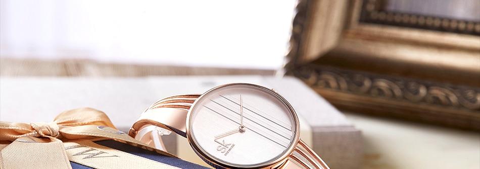 ساعة اليد سوار كوارتز  مطلية بالذهب 26